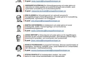 Hyresgästföreningens experter på plats i Almedalen