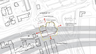 De nye tunnelene og sikkerhetssonene går rett under Rogaland Teater og Museum Stavangers bygninger.