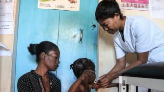 Im Süden Madagaskars leisten die SOS-Kinderdörfer Nothilfe. Besonders die Kinder sind von Hunger und Unterernährung betroffen. Foto: SOS-Madagaskar / August 2021 (Bild zur Verwendung nur im Kontext der SOS-Kinderdörfer weltweit)
