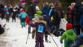 Lunds Skidfestival i Stadsparken var ett av flera välbesökta arrangemang under Vinterlund.