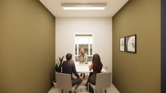 Besuchsräume für Senioren- und Pflegeheime ermöglichen direkte Begegnungen zwischen Bewohnern und ihren Angehörigen.