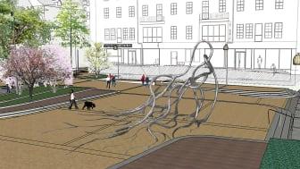Klart med vinnande konst för Stora torg i Eslöv