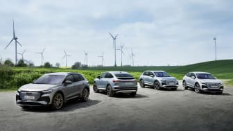 Helt eldrivna Audi Q4 e-tron och Q4 Sportback e-tron lanseras i år
