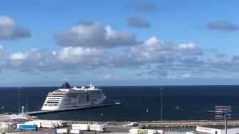 Anløb af krydstogtskib i Visby