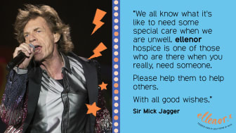 Sir Mick Jagger sends his good wishes