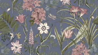 Wallpaper Boutique 10x0,53 m Cornet Flower Blue Nonwoven