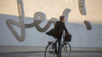 Cyklist i gc-tunnel