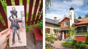 Carl Larsson gården i Dalarna. Foto til venstre: Ingeborg Lindseth. Foto til høyre: Anna Holm.