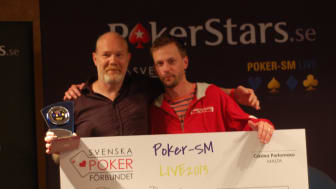 Peder Behr vinner SVEPOF Poker SM live 2013