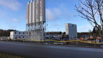 Betongfabrik med den senaste teknologin öppnar i Skara