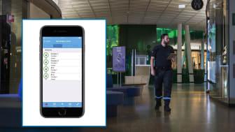 Securitas Larm Plus kan styras helt och hållet genom en app