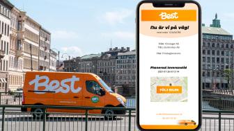 Best Transport lanserar Track & Trace I realtid för B2B-segmentet