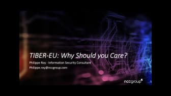 30 Minutes webinar series: TIBER-EU - Why you should care – listen back