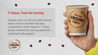 Tensar Ground Coffee Blog - T-Value: Time for testing