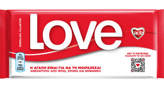 H Lacta αφαιρεί το λογότυπό της από την πιο αναγνωρίσιμη συσκευασία και μας καλεί να μοιραστούμε την αγάπη