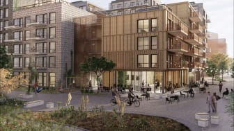 What arkitektur bostadsförslag i GoCo Health Innovation City för Balder.