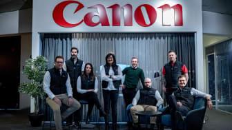 Teamet CBC Dalarna och Martin Arousell ägare av Canon Business Center Gävle som öppnar första juni 2021.