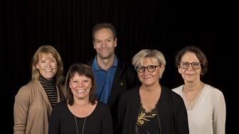 Delar av den nominerade gruppen. Från vänster till höger: Annika Grynne, Maria Brovall, Mikael Johannesson, Kristina Ek och Anita Kjellström.