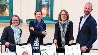 På bilden från vänster: Lisa Munkhammar och Ida Fejer från If samt Mia Ahlberg och Magnus Dimert från One Million Babies