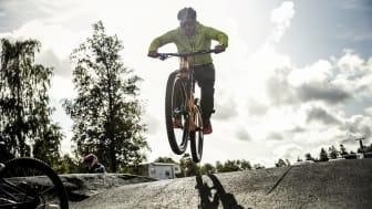 I mitten av september 2020 utökas Billingen Bike Park med ytterligare en pumptrack för mer avancerade åkare. Foto: Tobias Andersson/Next Skövde