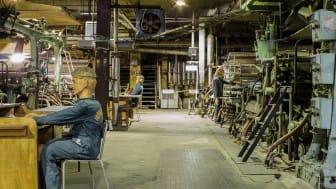 Maskinhallen på Frövifors Pappersbruksmuseum - ett immateriellt kulturarv som ska bli mer begripligt för nya generationer.