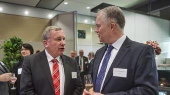 Maritimer Koordinator der Bundesregierung Norbert Brackmann, MdB (CDU) und Scandlines' CEO Søren Poulsgaard Jensen