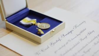 Bengt Islings medalj och diplom