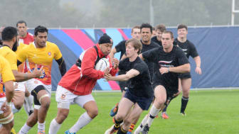 Northumbria students take on Tonga rugby team