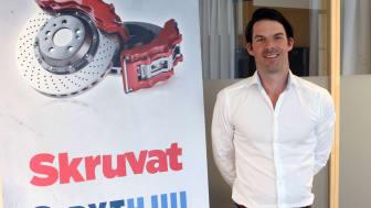 Carl Lumsden, Logistikchef på Skruvat.se och Bythjul.com