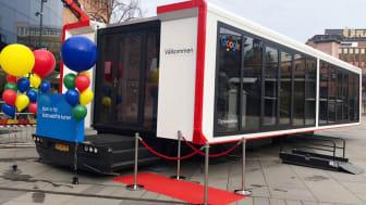 Digitalakademins trailer som gör ett stopp i Helsingborg  2-3 maj