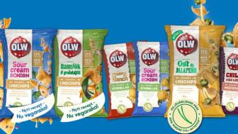 Flera av OLW:s veganska snacks.
