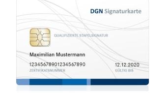 Abbildung: DGN Signaturkarte