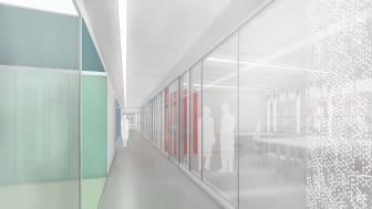 Skiss Framtidens laboratorium, Karolinska Institutet