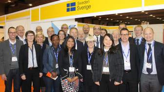 Svenska paviljongen vid AidEx mässan i Bryssel - ABI på plats med bolagen BioCool och AMTSolutions