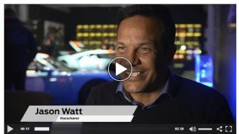 Se vedhæftede video (nederst) fra pressemødet, hvor Jason Watt ser sin nye Ford GT første gang