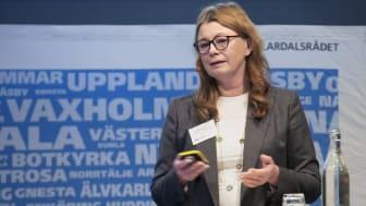 Helena Sundberg, regiondirektör Trafikverket Stockholm och vice ordförande i Godstransportrådet.