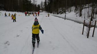 SKILEK: Det blir mye skilek i bunnen av Liabakken denne vinterferien. Bildet er tatt fra fjorårets arrangement med Skiforeningen.