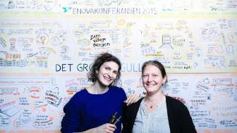 Esther Buchmann og Kathrine Kanstrup tegner Enovakonferansen 2015