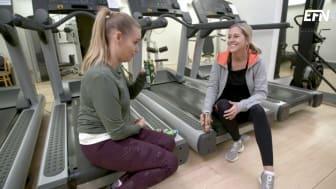Petra Bergman och Christina Sahlberg i gymmet