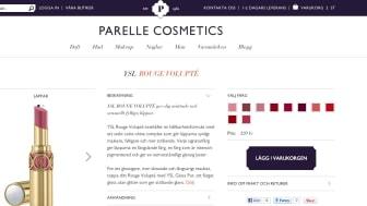 Avancerad nätbutik för skönhetstörstande