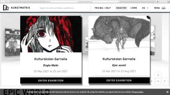 Två nya utställare på Kulturskolan Garnalias digitala galleri