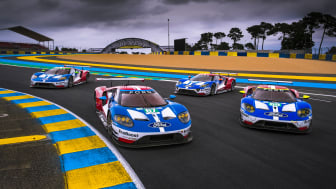 Ford Le Mans 2017 4-car shot