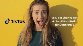 TikTok-Umfrage: 15 Prozent der Millennials vom familiären Risiko für Darmkrebs betroffen.