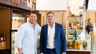 Restaurangentreprenör Pontus Frithiof tillsammans med Elektroskandia Sveriges VD, Anders Nordlöw