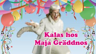 """Populära och välbekanta Anna-Karin """"ako"""" Oldeberg spelar Maja Gräddnos i denna underhållande föreställning."""