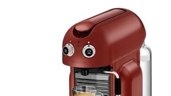 Maestria Röd med espresso och förpackning
