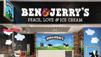 Ben & Jerry's Väla ligger vid entré 1.
