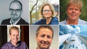 Lauri Vartia (Linde), Jenny Larfeldt (Siemens), Göran Lindbergh (KTH), Göran Nyström (Ovako) ja Ivan Østvik (Norled)