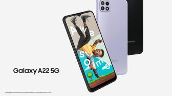 Samsung jatkaa 5G-portfolionsa laajentamista – tässä on uusi Galaxy A22 5G -puhelin