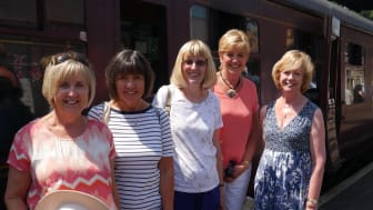 Station adopters from Widney Manor enjoying a day on the Severn Valley Railway